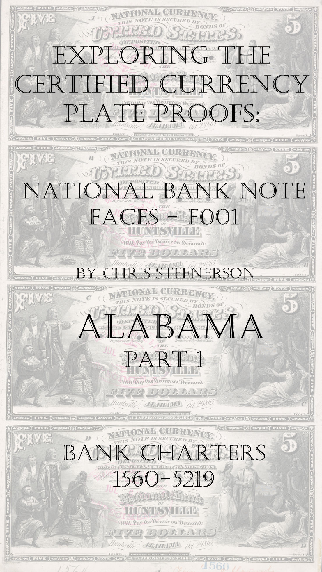Alabama National Bank Note Currency Proofs