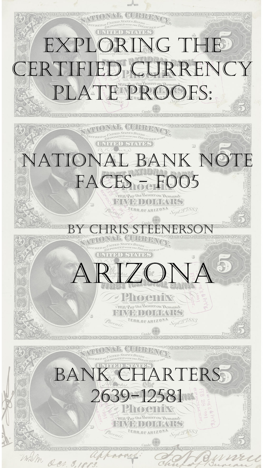 Arizona National Bank Note Currency Proofs
