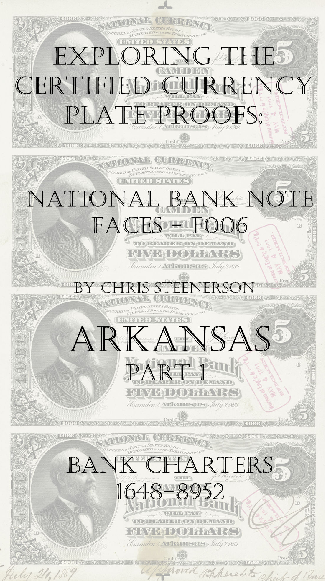 Arkansas National Bank Note Currency Proofs