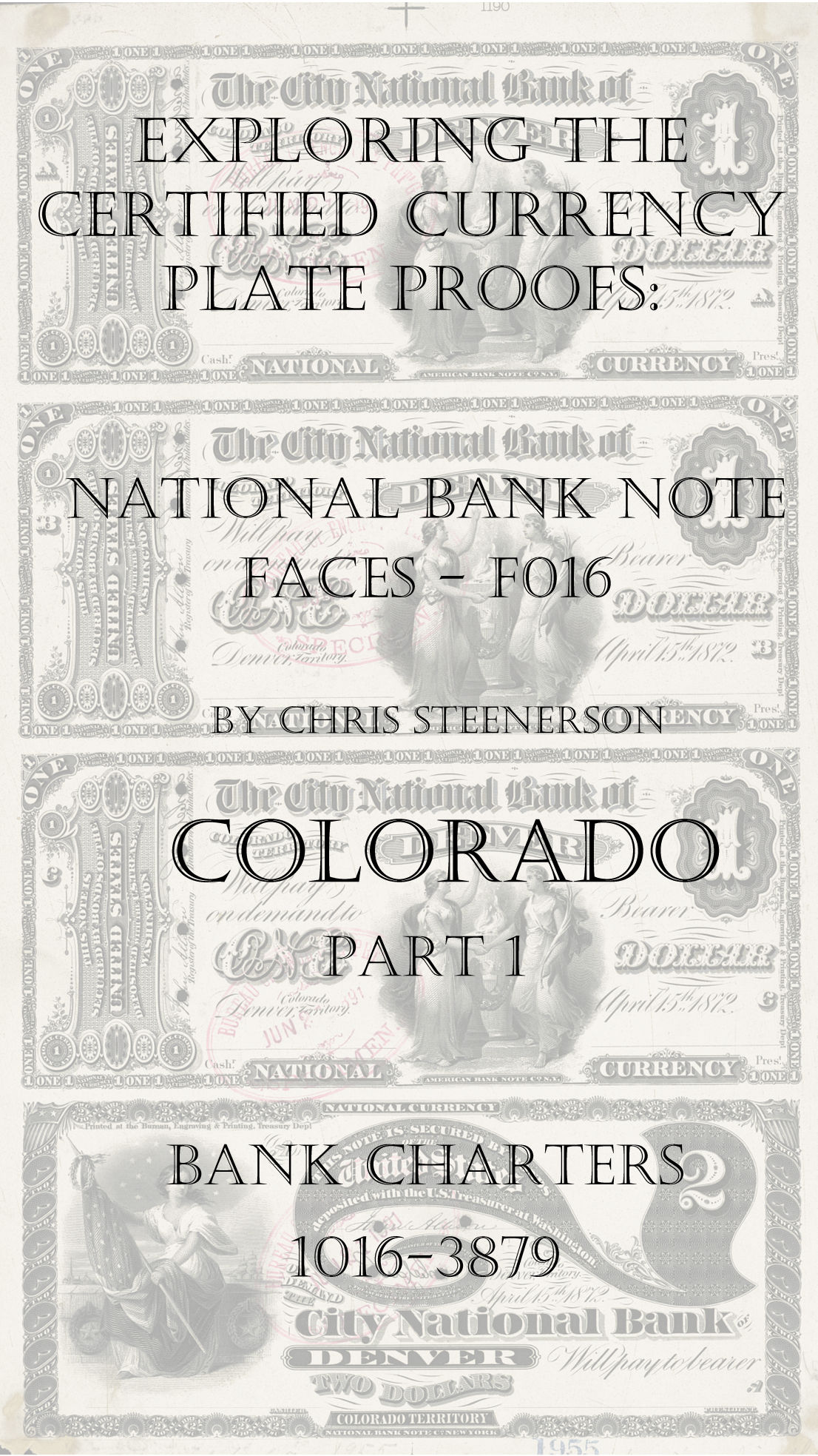 Colorado National Bank Note Currency Proofs
