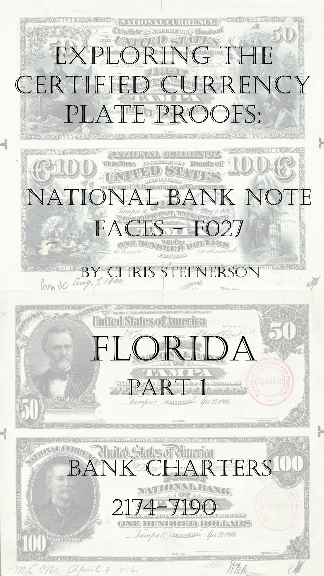 Florida National Bank Note Currency Proofs