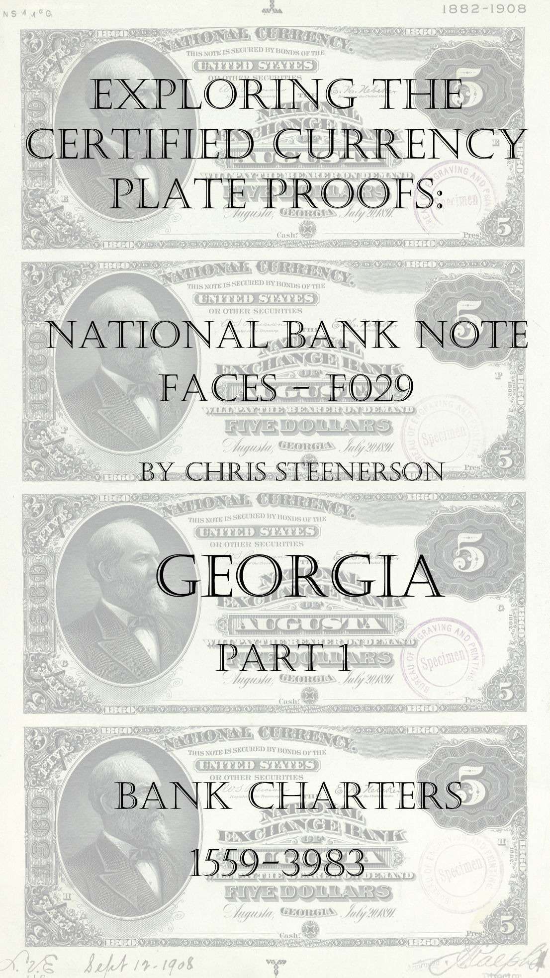 Georgia National Bank Note Currency Proofs