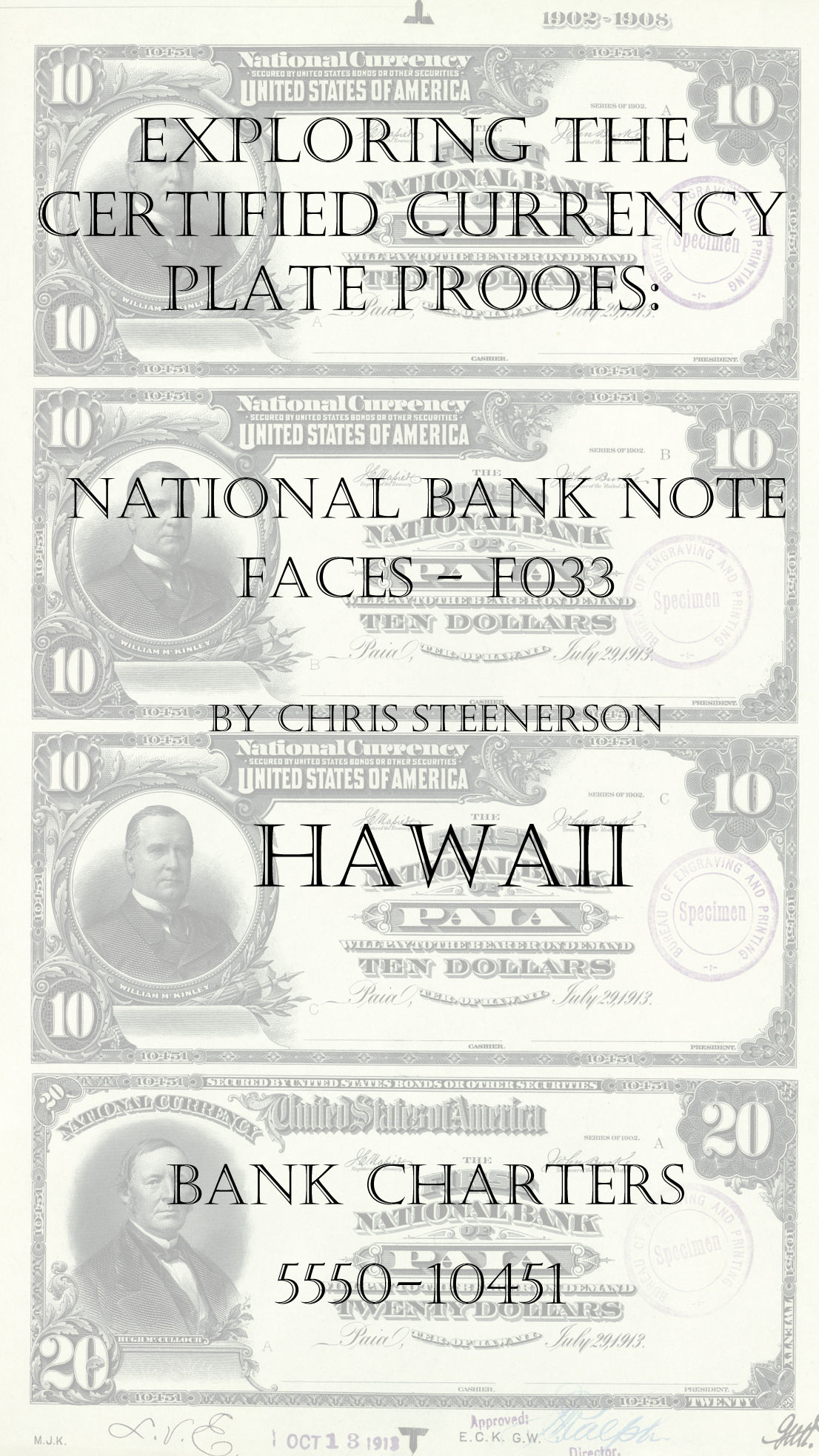 Hawaii National Bank Note Currency Proofs