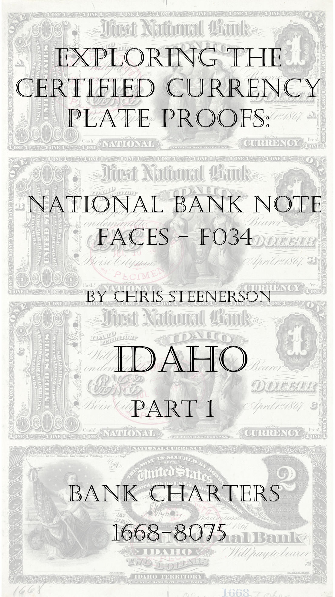 Idaho National Bank Note Currency Proofs