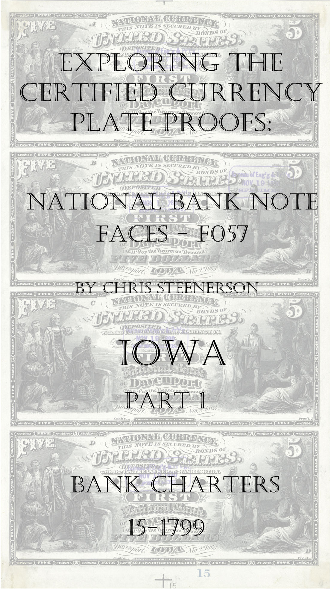 Iowa National Bank Note Currency Proofs