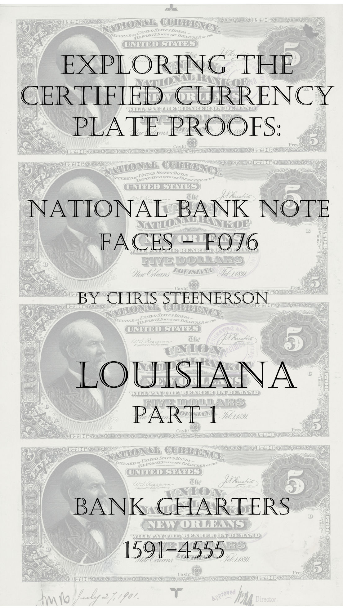 Louisiana National Bank Note Currency Proofs