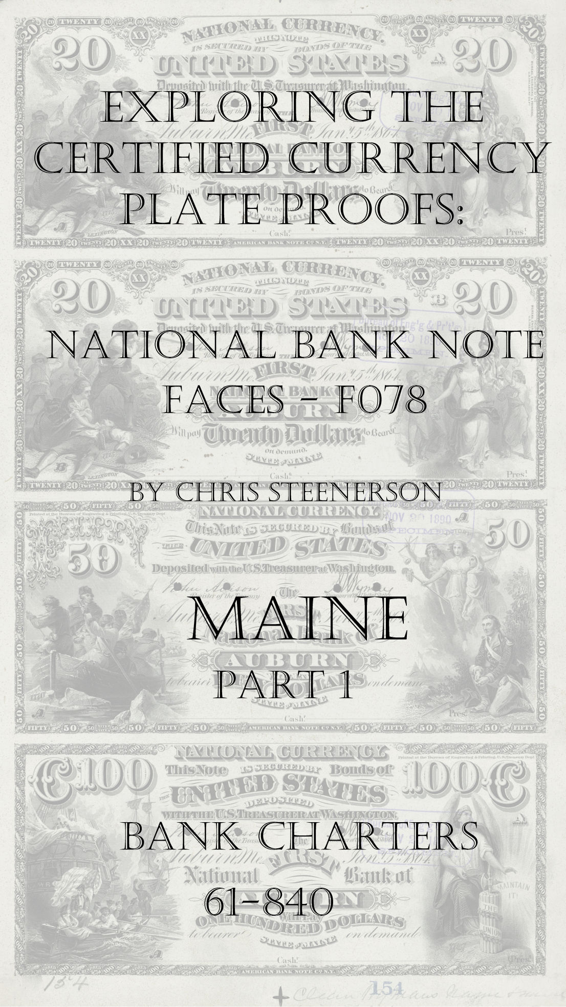 Maine National Bank Note Currency Proofs