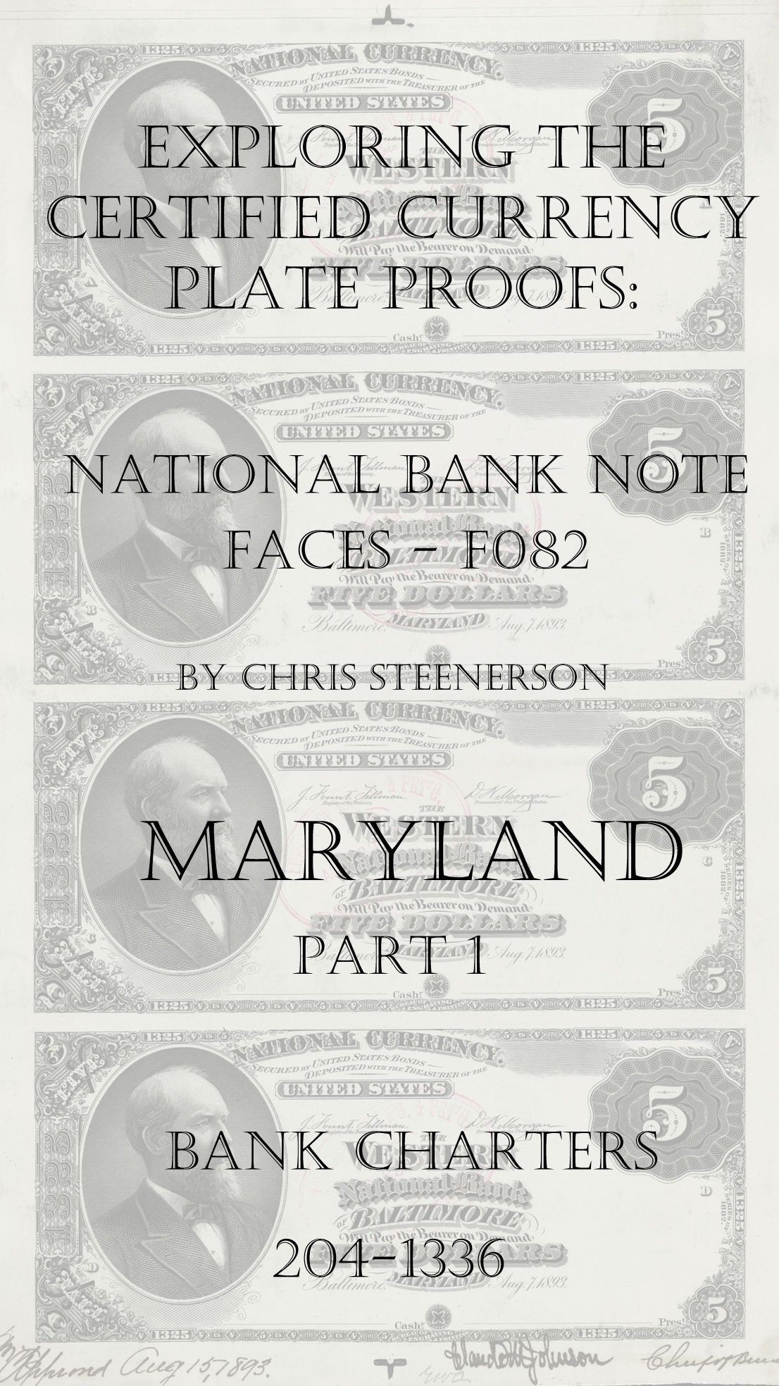 Maryland National Bank Note Currency Proofs