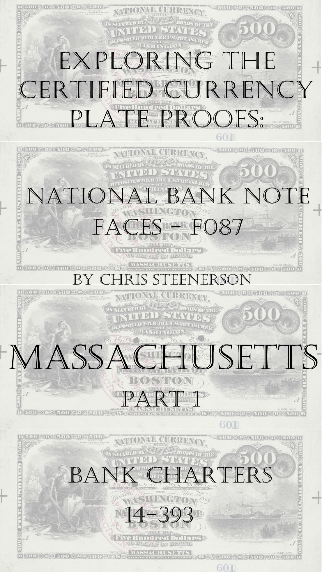 Massachusetts National Bank Note Currency Proofs