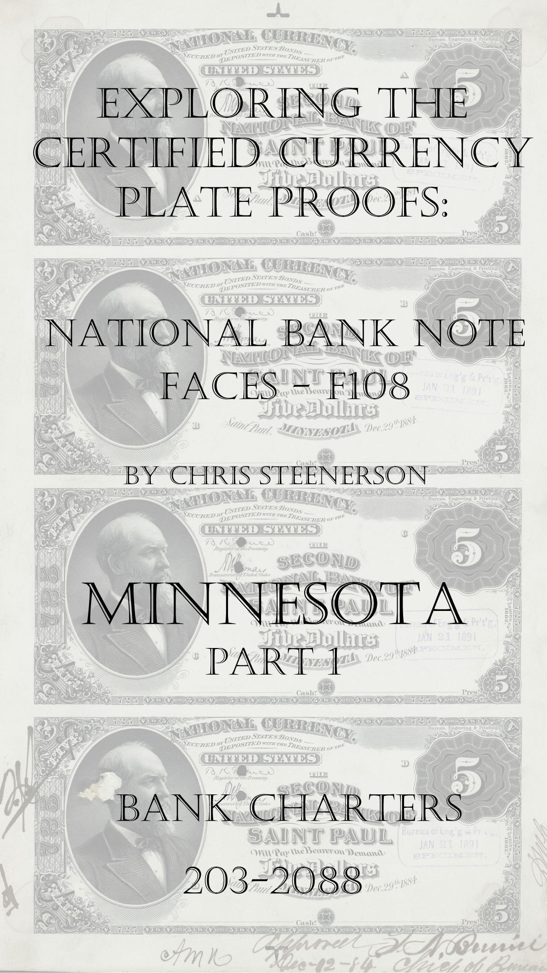 Minnesota National Bank Note Currency Proofs