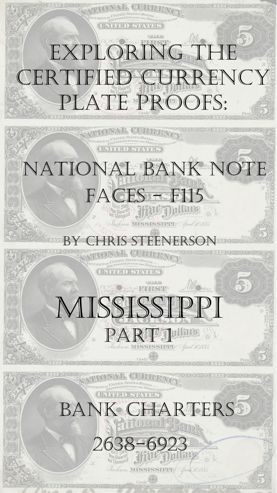Mississippi National Bank Note Currency Proofs