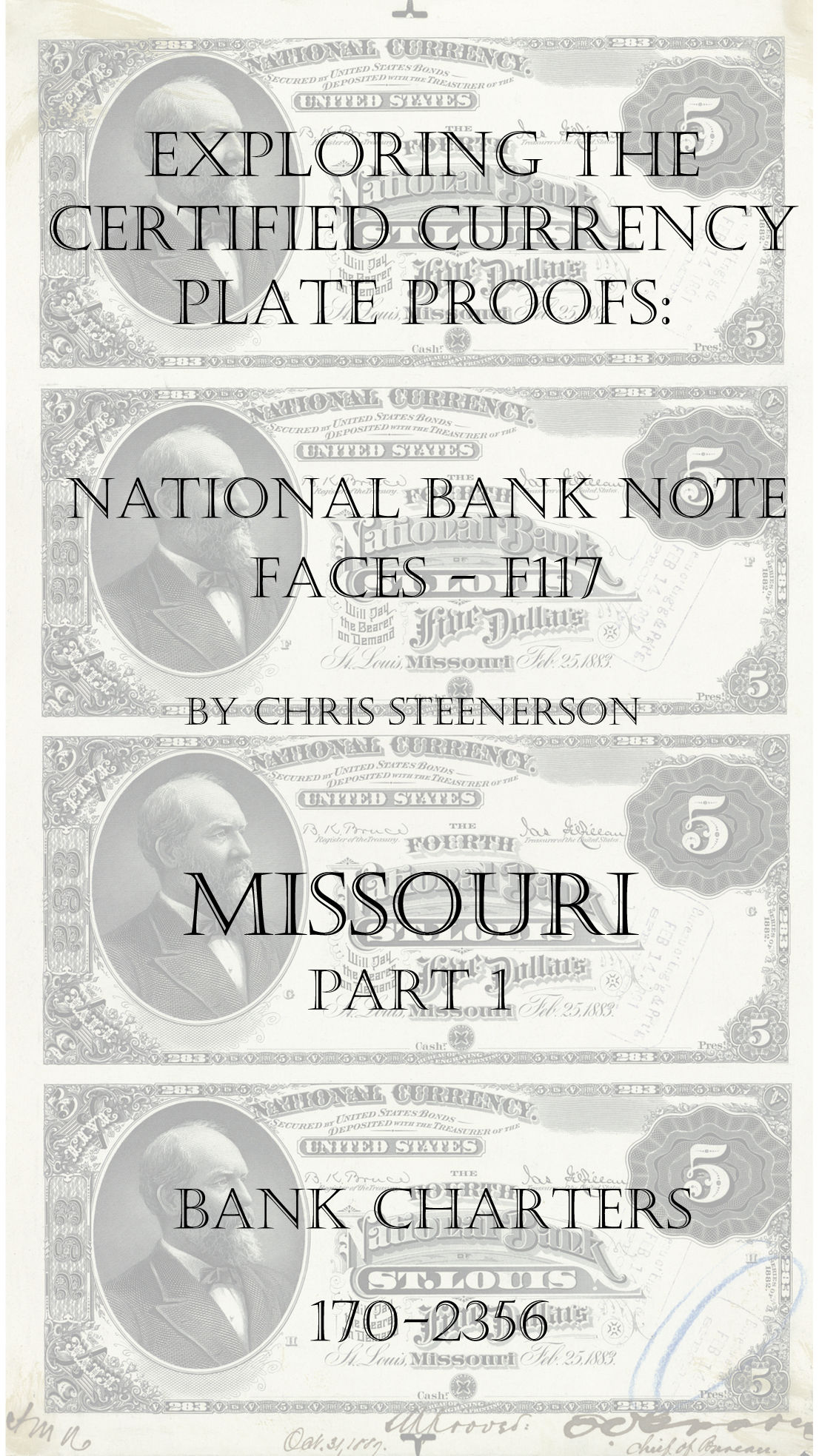 Missouri National Bank Note Currency Proofs