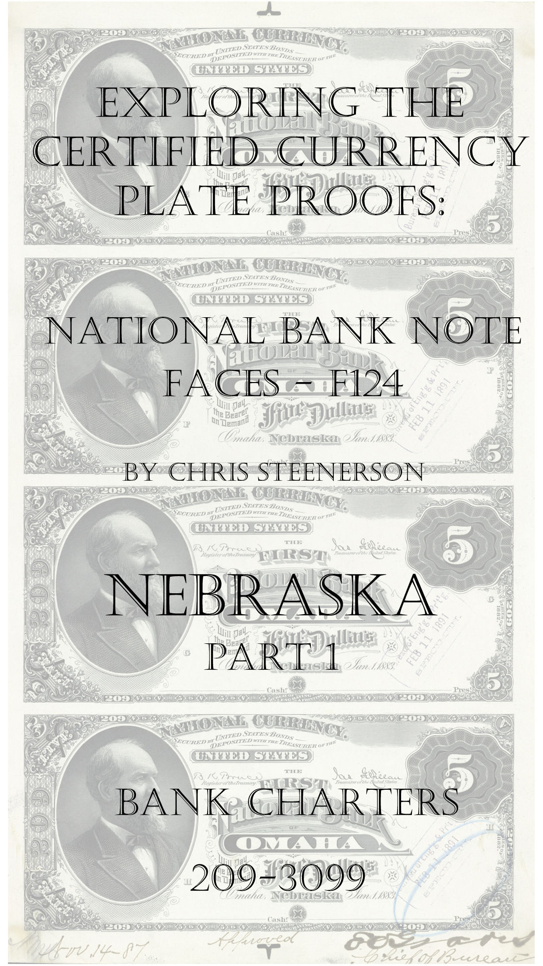 Nebraska National Bank Note Currency Proofs