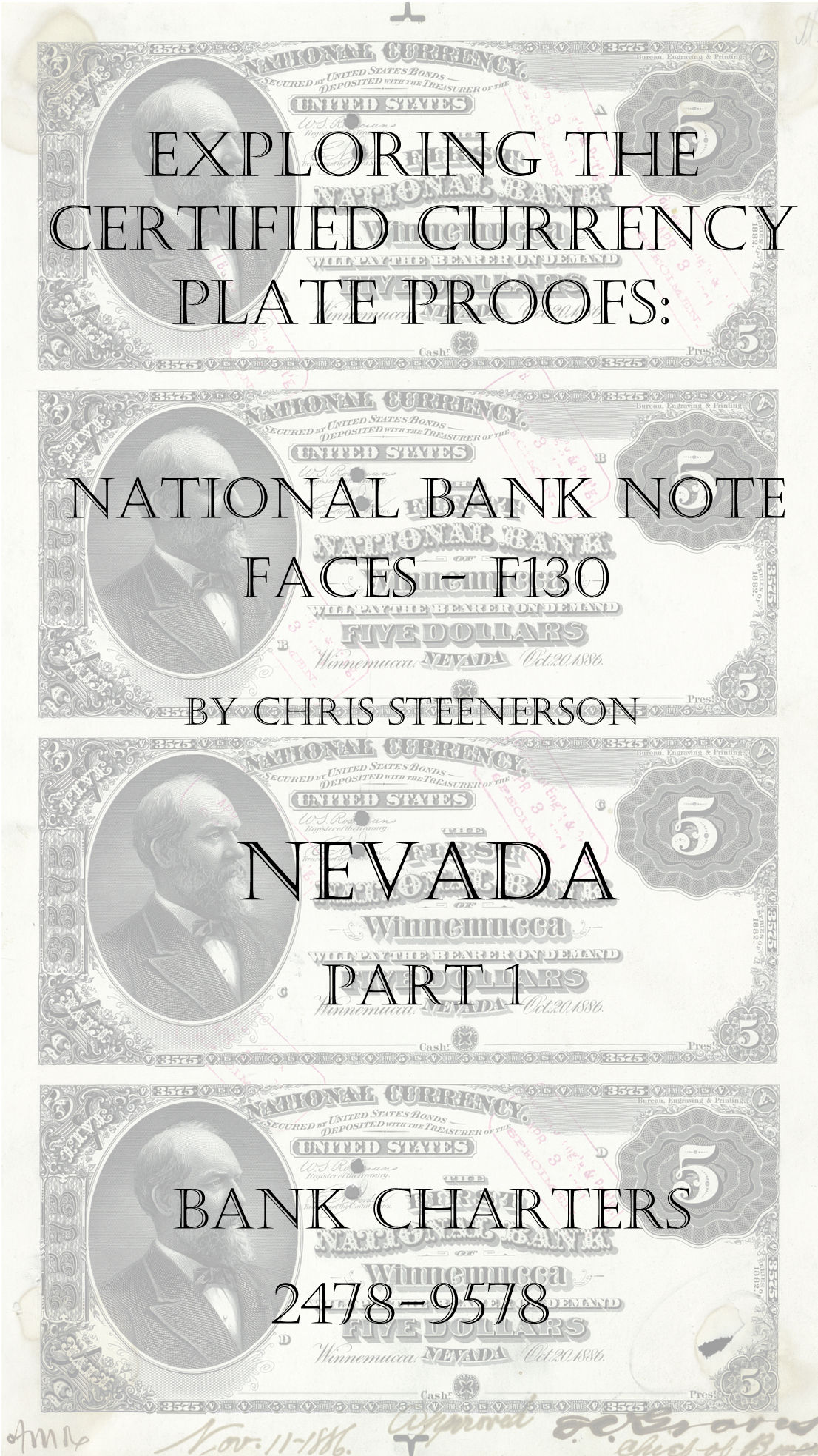 Nevada National Bank Note Currency Proofs