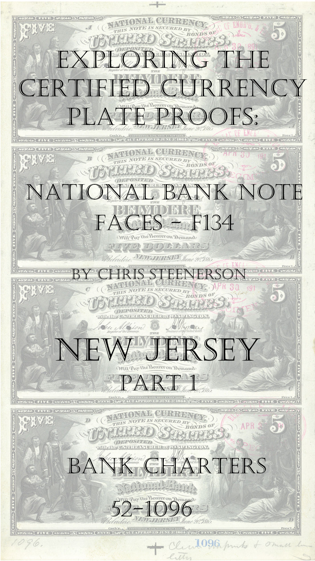 New Jersey National Bank Note Currency Proofs