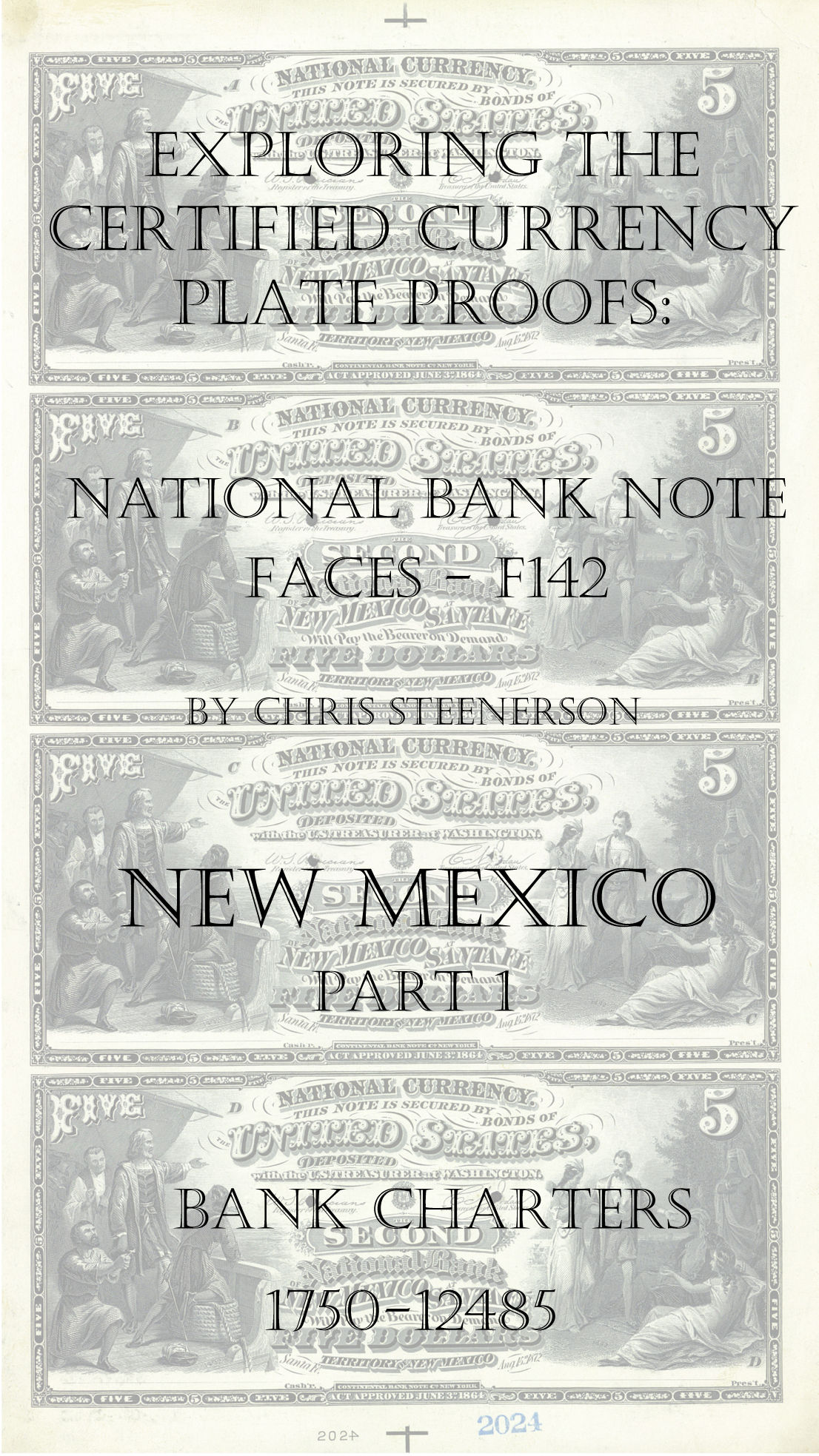New Mexico National Bank Note Currency Proofs