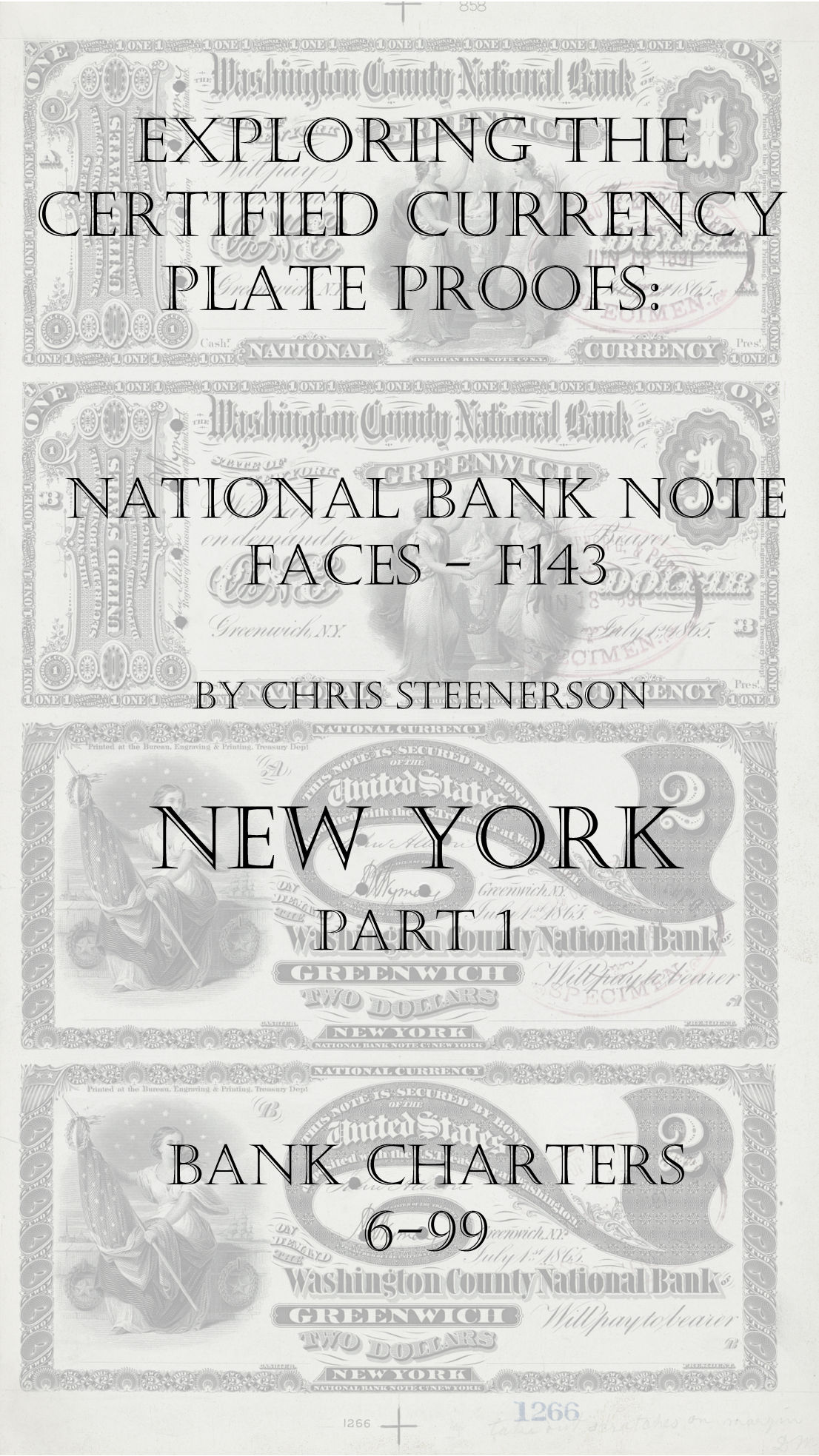 New York National Bank Note Currency Proofs