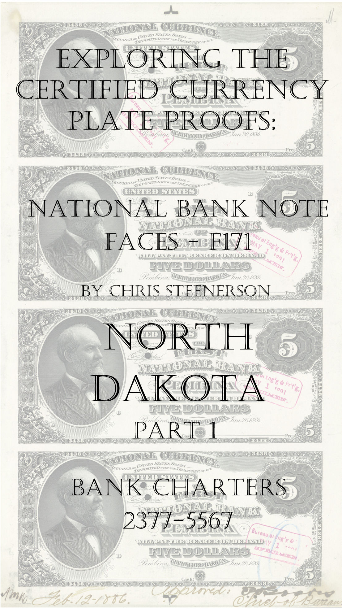 North Dakota National Bank Note Currency Proofs