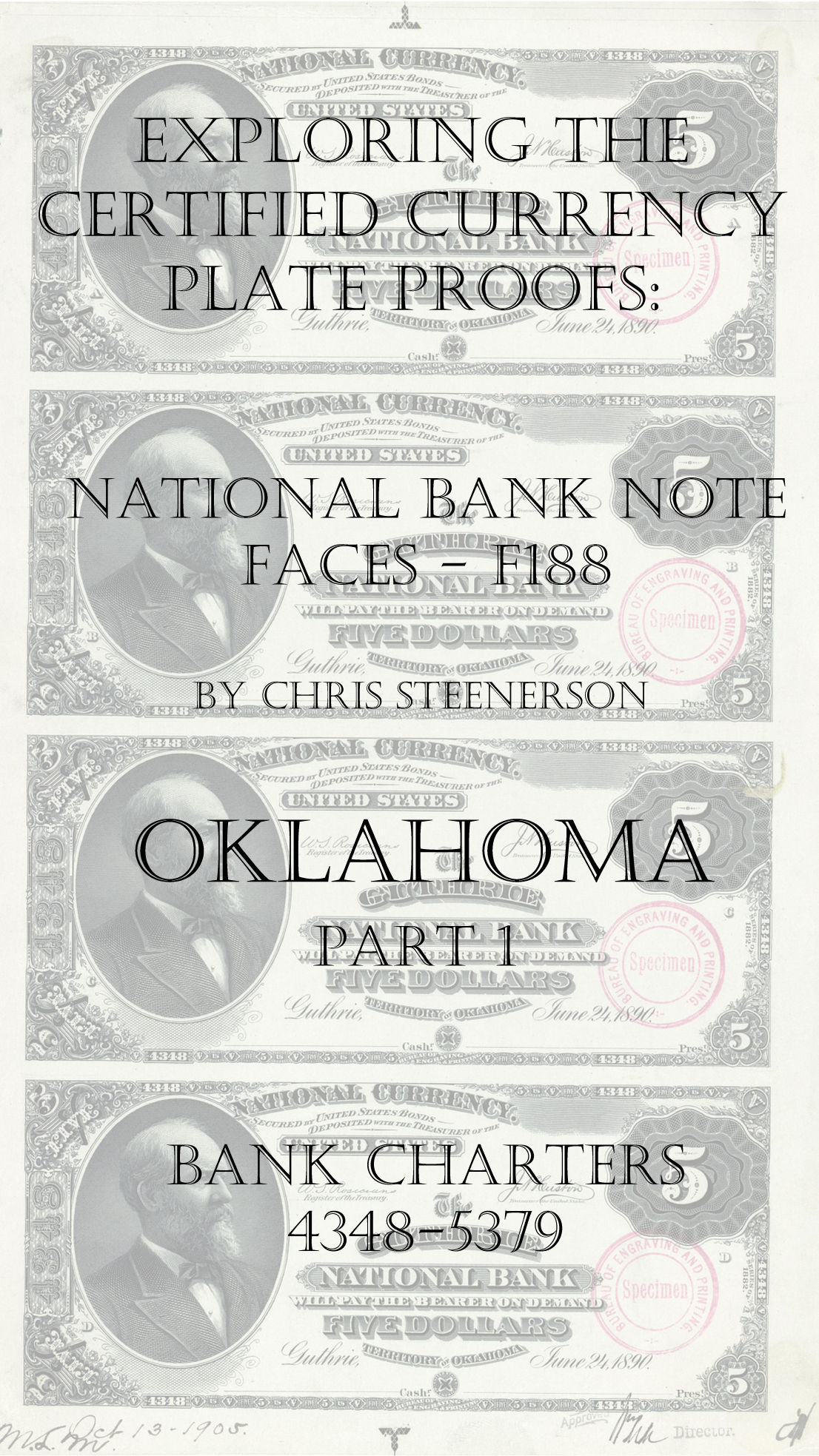 Oklahoma National Bank Note Currency Proofs