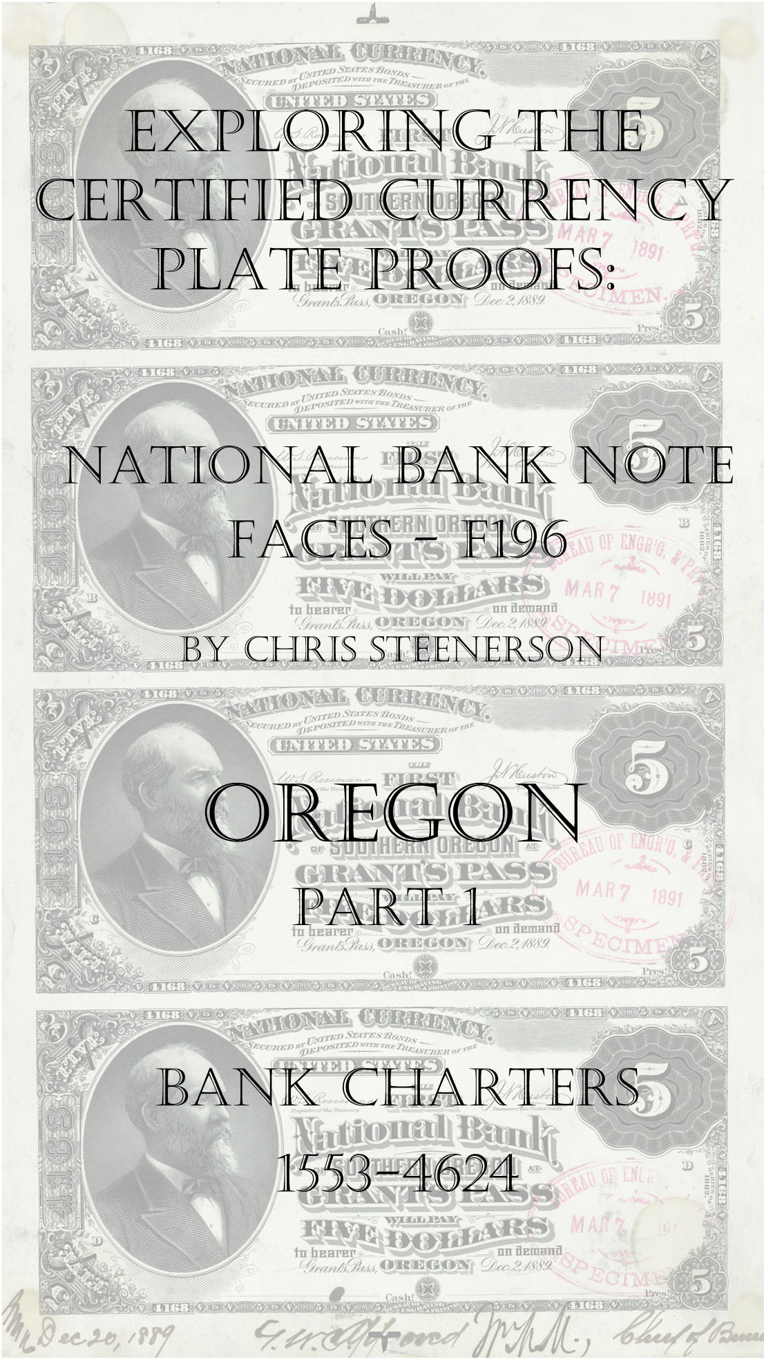 Oregon National Bank Note Currency Proofs