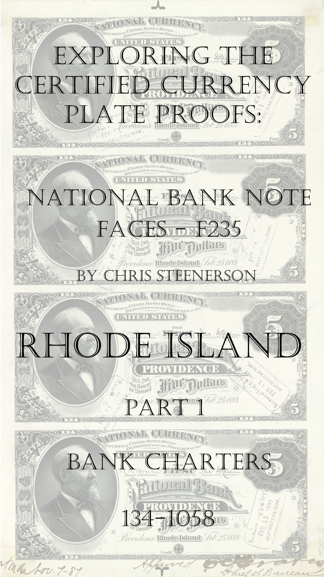 Rhode Island National Bank Note Currency Proofs
