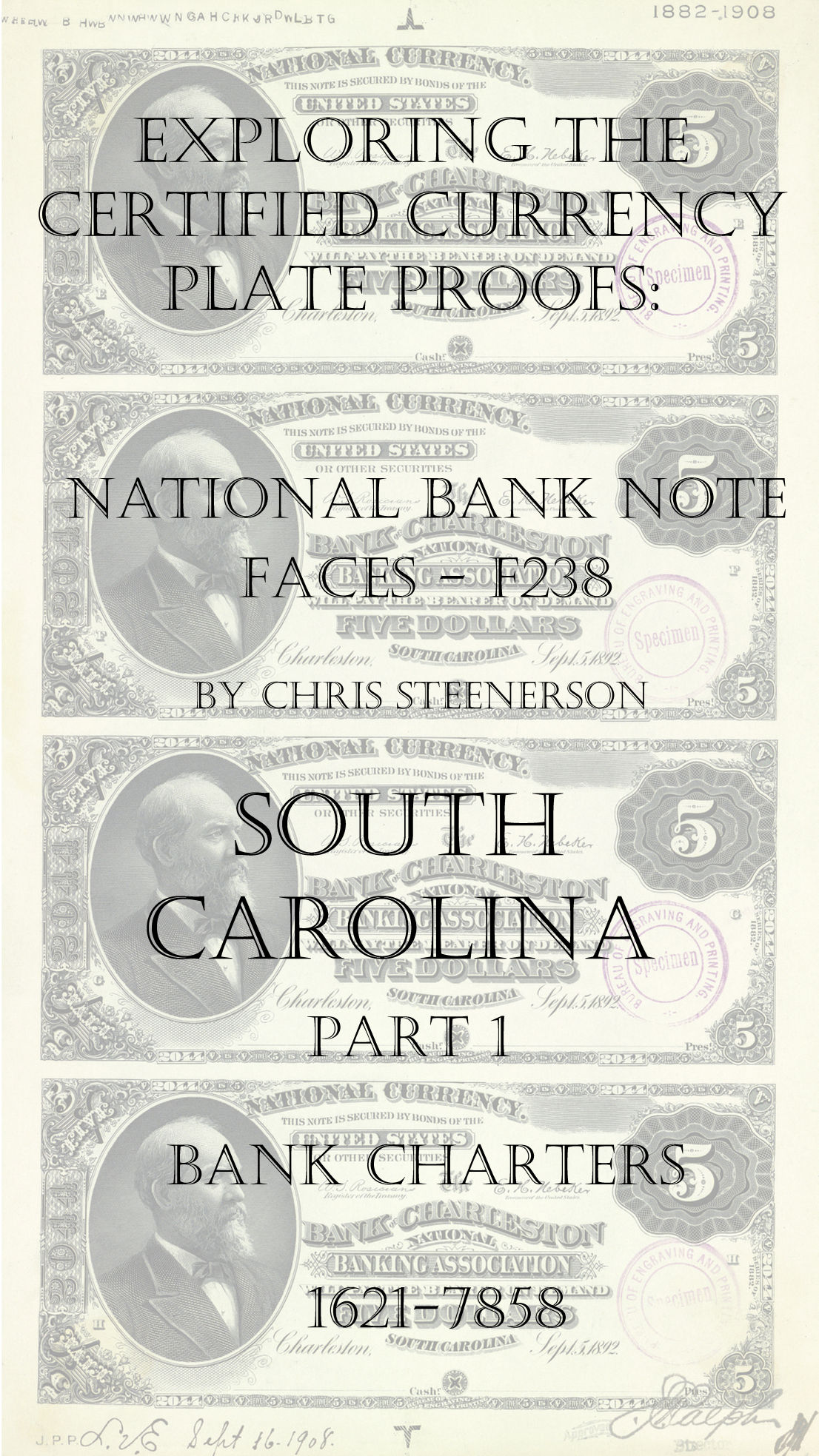 South Carolina National Bank Note Currency Proofs