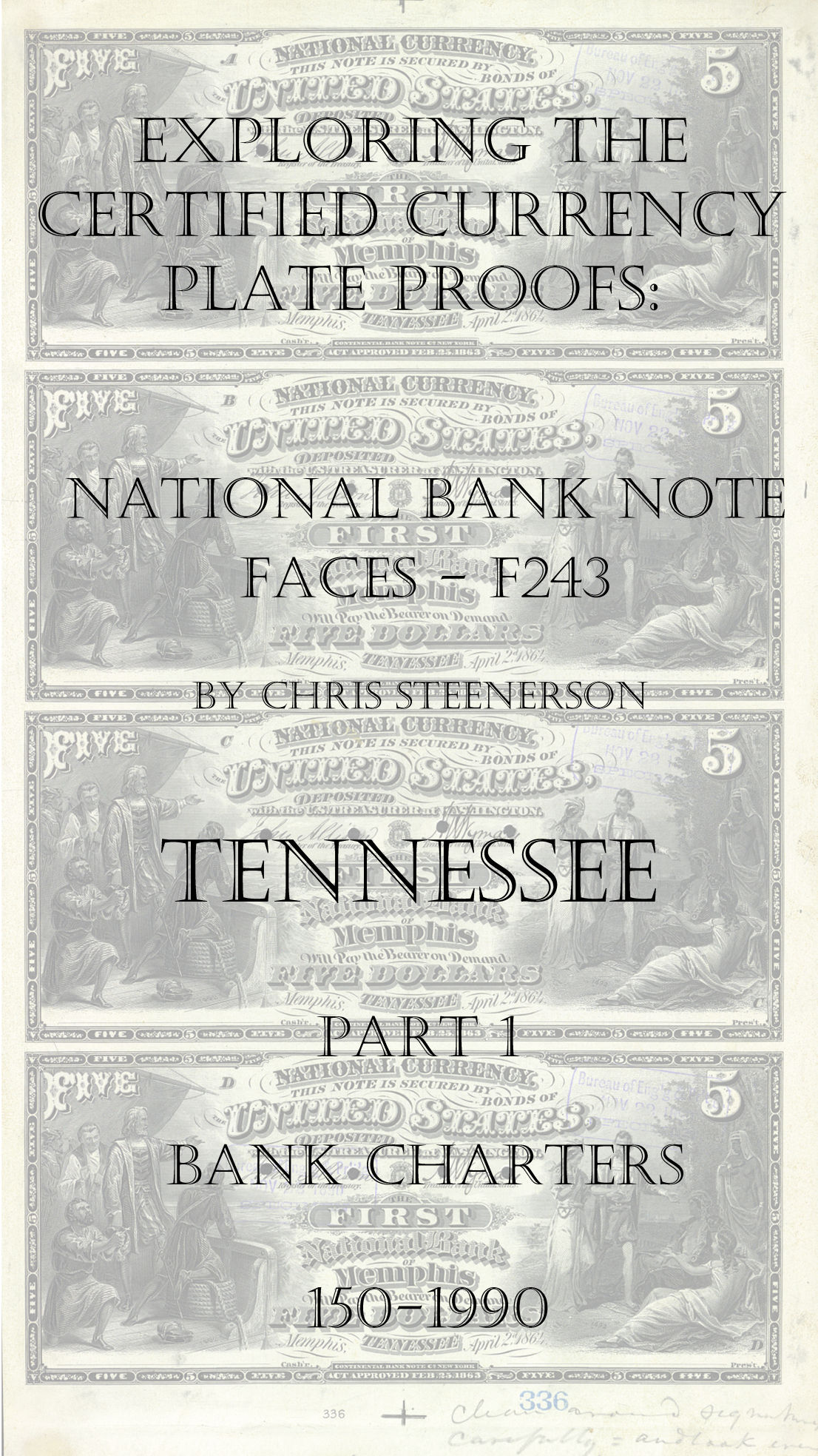 Tennessee National Bank Note Currency Proofs