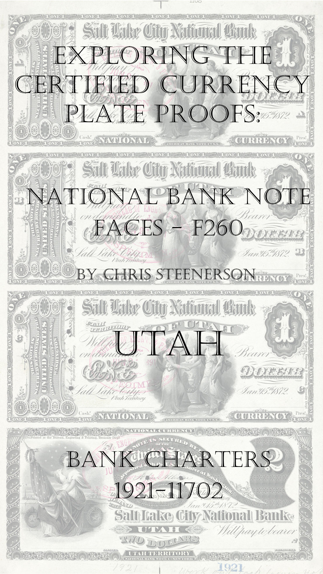 Utah National Bank Note Currency Proofs