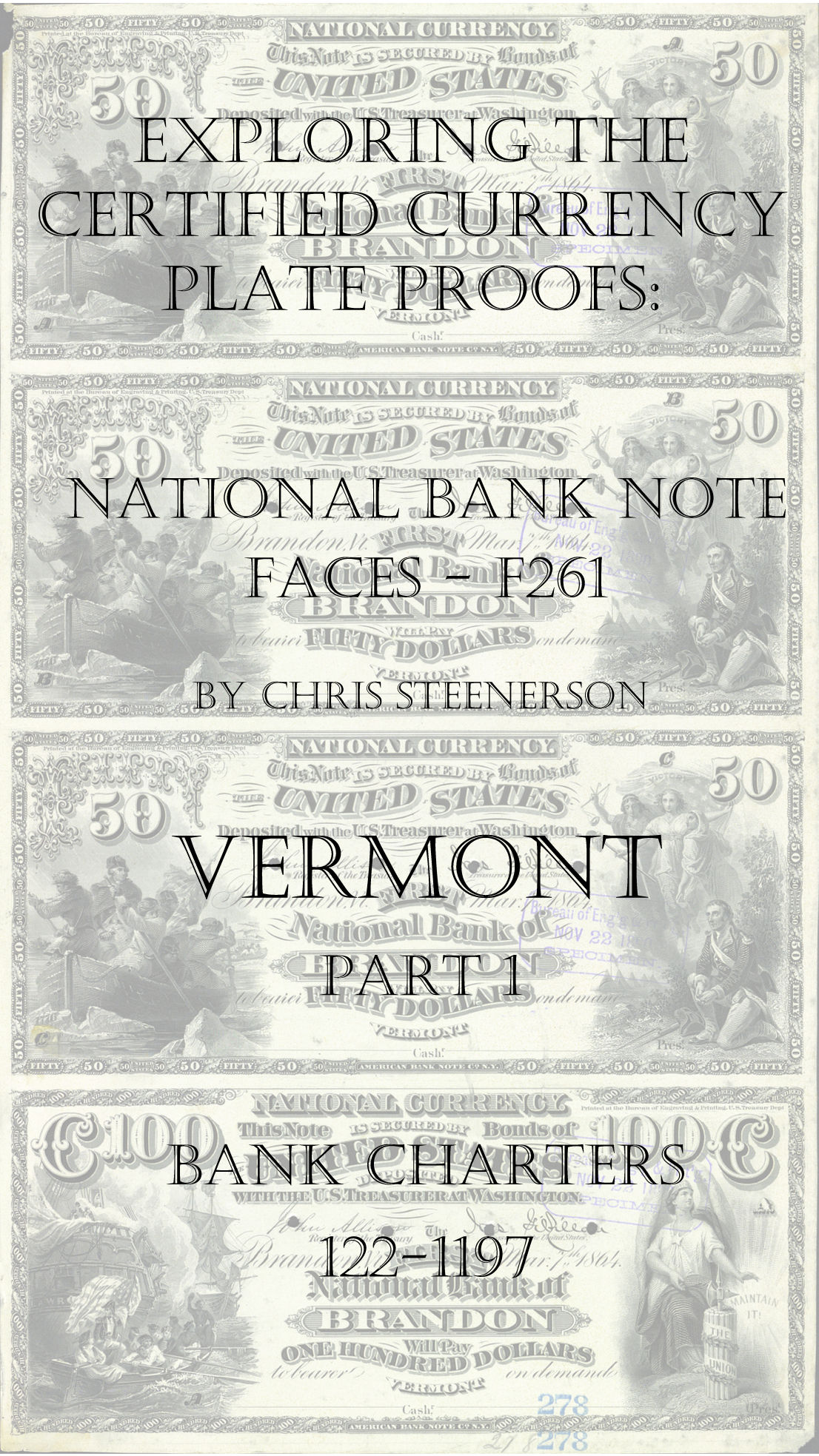 Vermont National Bank Note Currency Proofs
