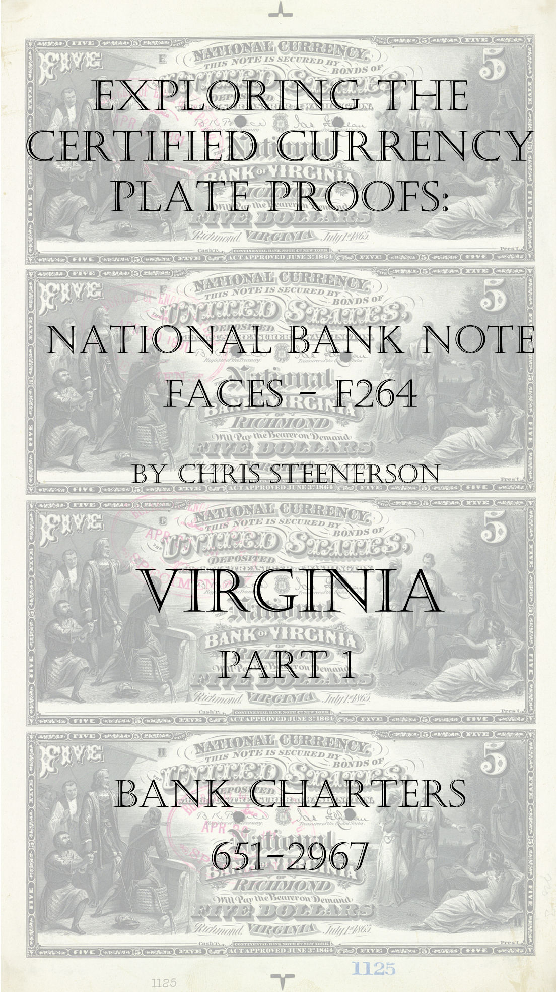 Virginia National Bank Note Currency Proofs