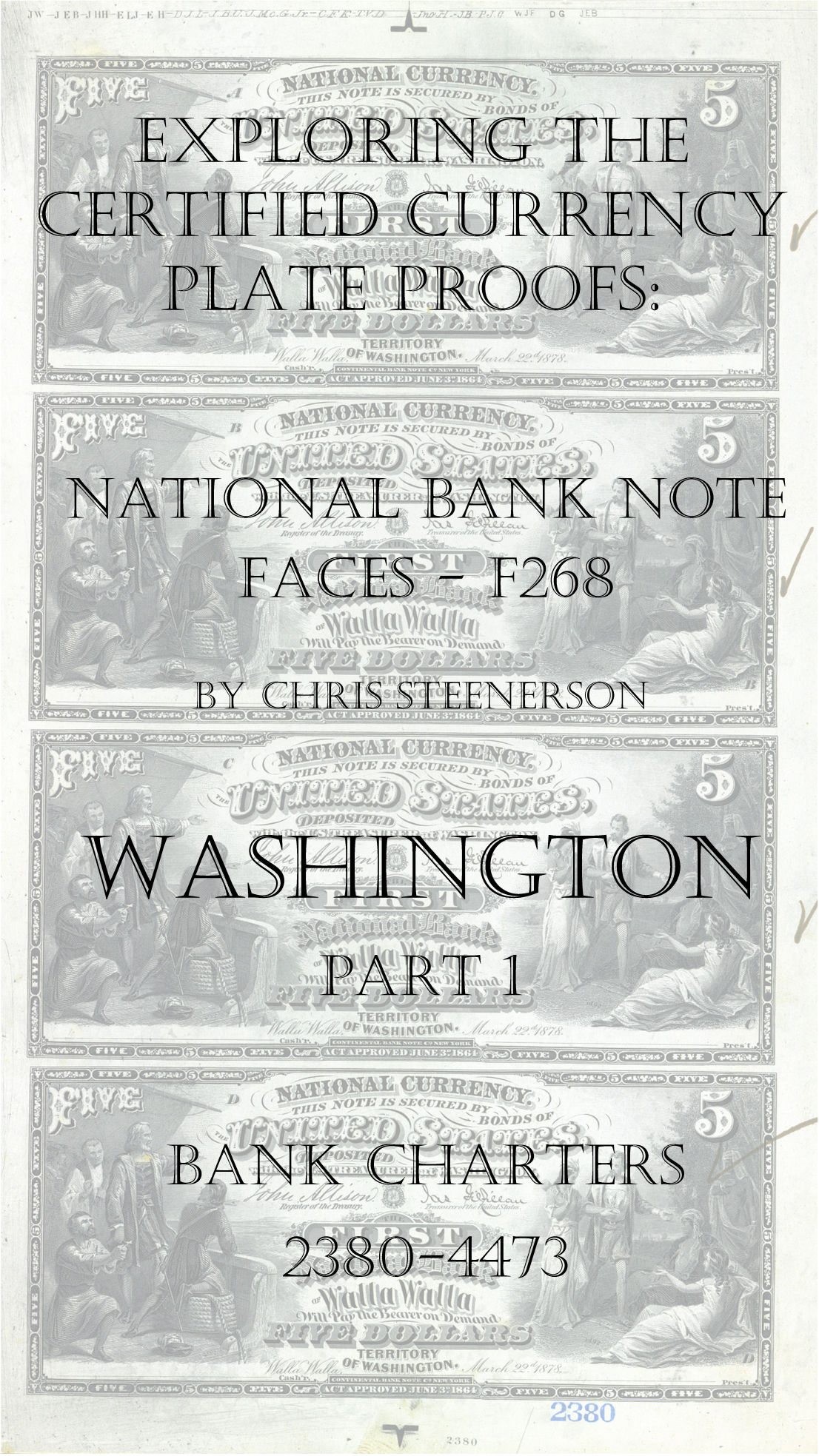 Washington National Bank Note Currency Proofs