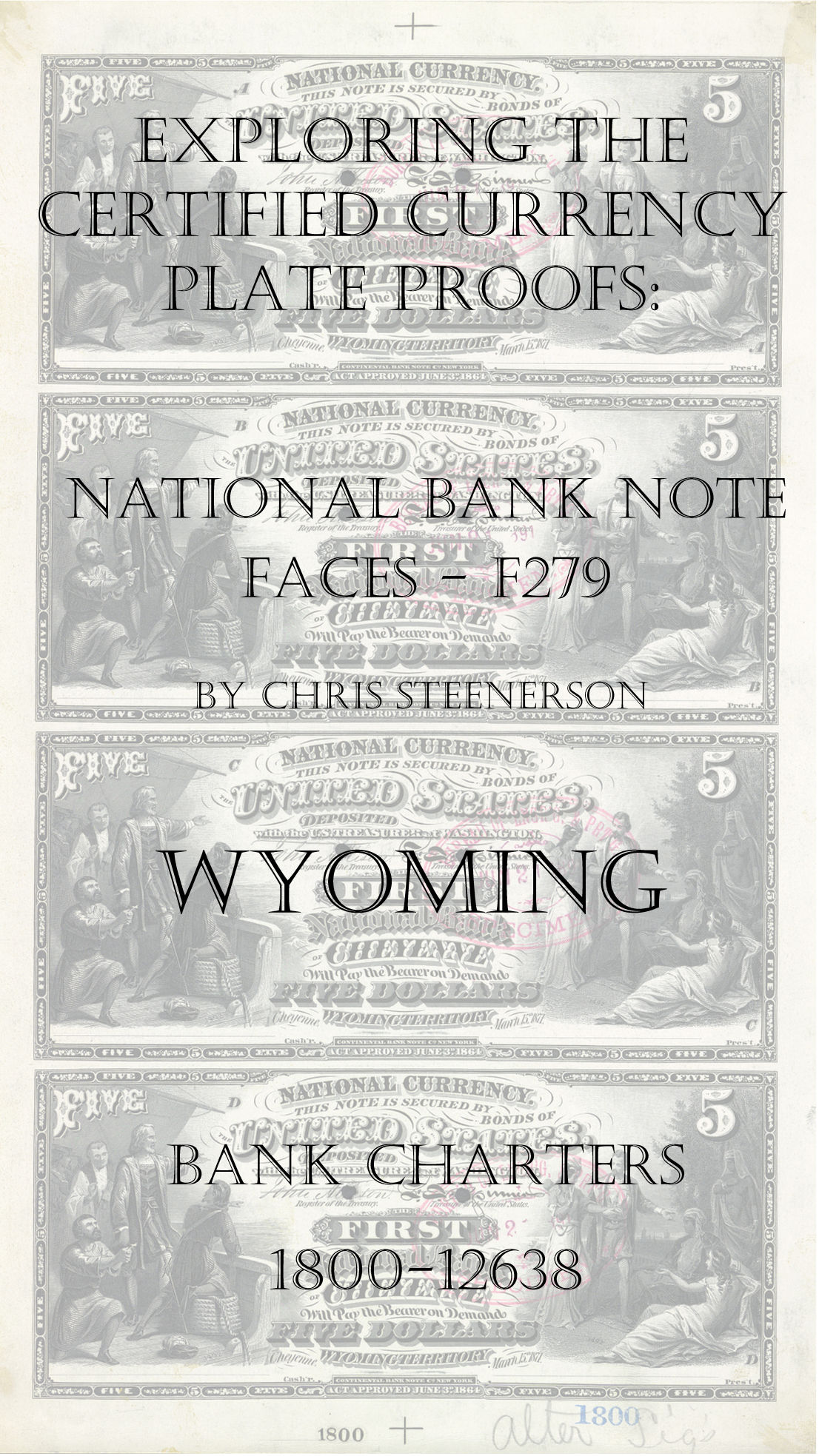 Wyoming National Bank Note Currency Proofs