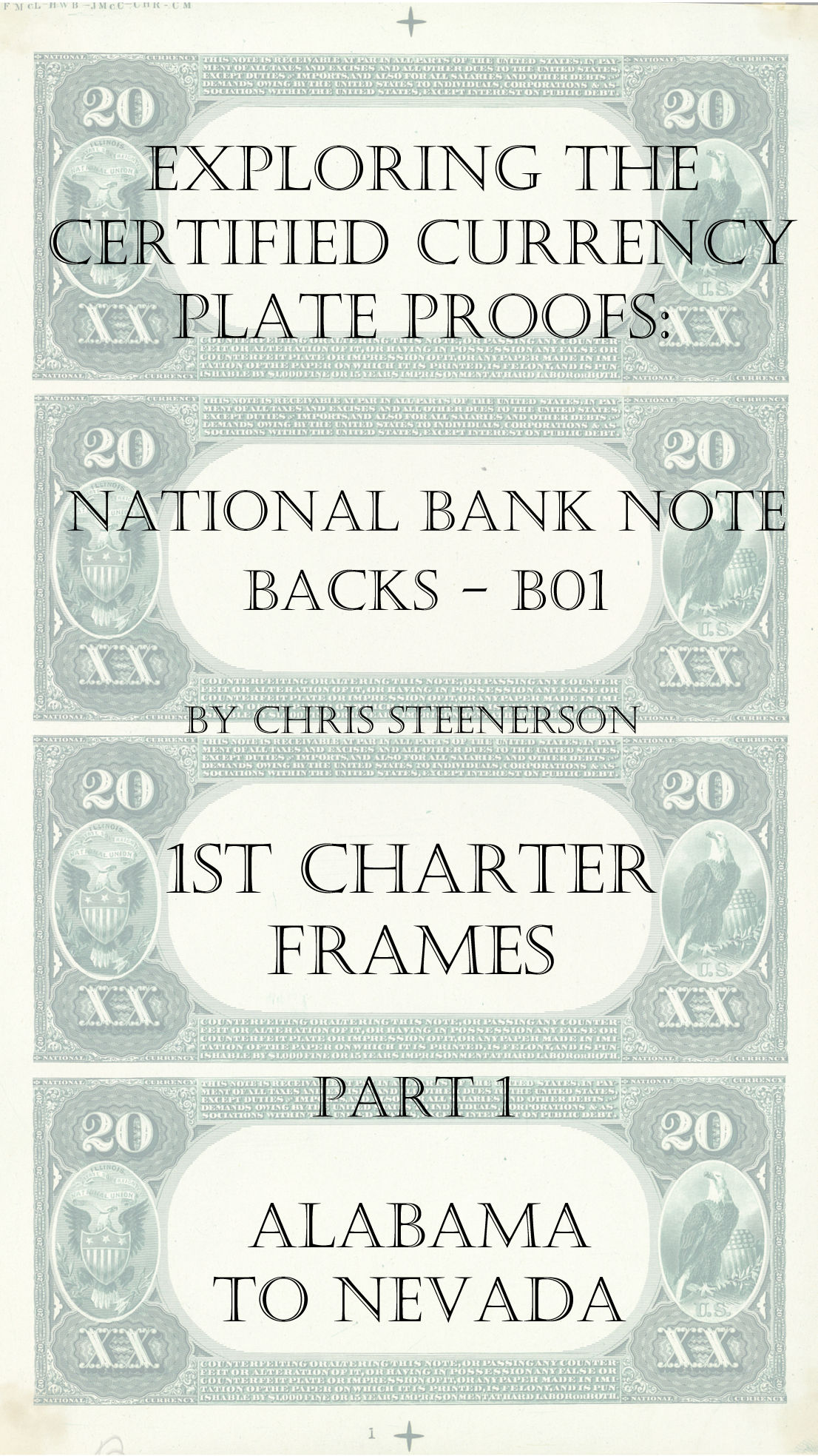Backs 1st Charter Frames and Vignettes All-States Currency Proofs